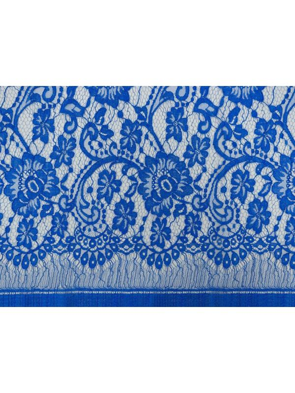 Chantilly Lace Fabric Electric Blue