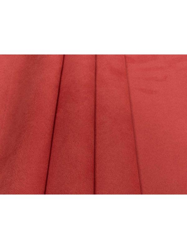 Bonded Suede Fabric Stain Resistant Red - Brera