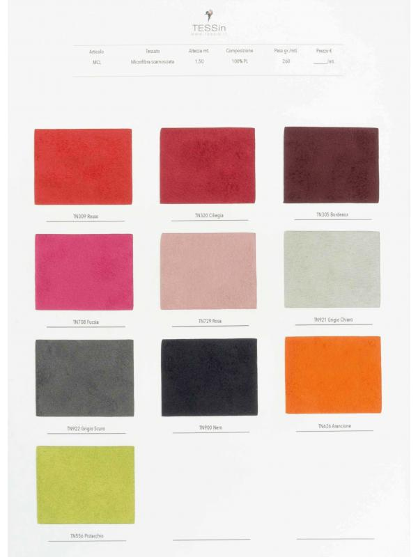 Swatch Card Microsuede Fabric - MCL