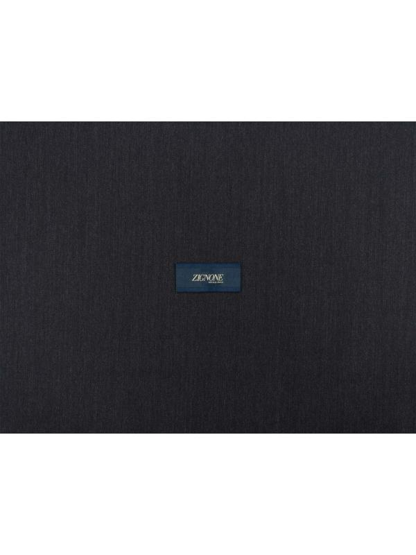 Worsted Wool Fabric Anthracite Grey Mélange Zignone
