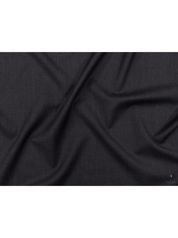 Mtr. 3.70 Twill Wool Fabric Anthracite Made in Italy