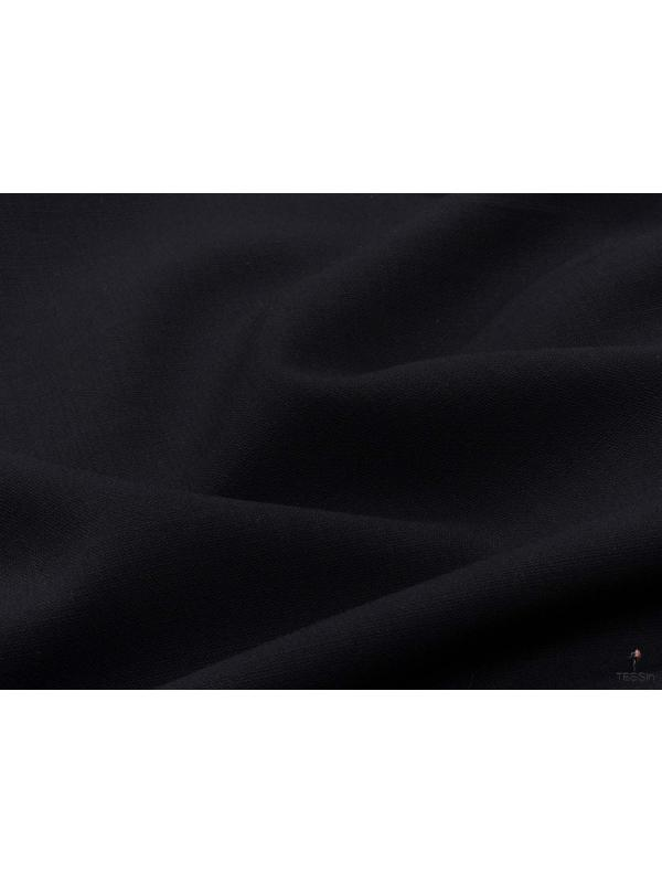Wool Crepe Super 120's  Fabric Dark Blue Made in Italy