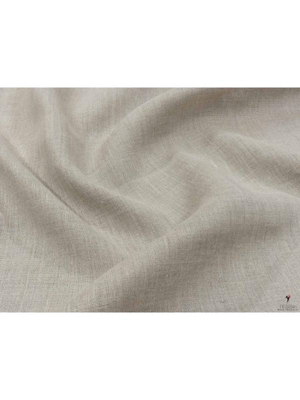 Linen Fabric Natural Soft Finish Made in Italy