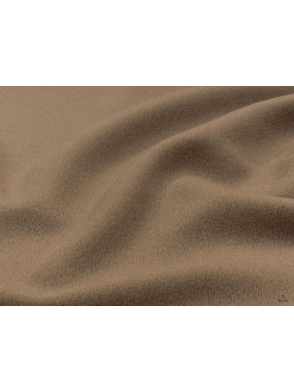Mtr. 3.50 Velour Fabric Pure Wool Fabric Bisquit Brown