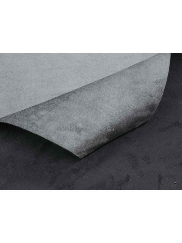 Double Face Microsuede Fabric Grey Black