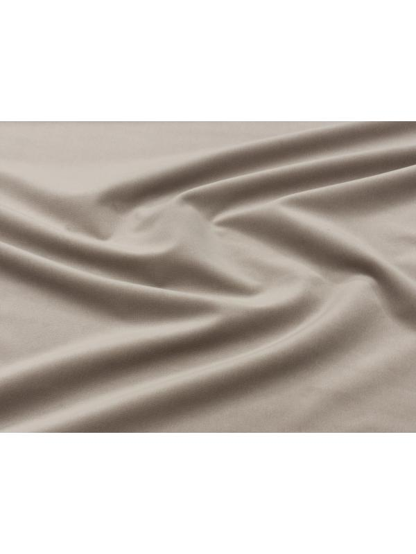 Velvet Fabric Pure Cotton Ecru Made in Italy Limited Stock