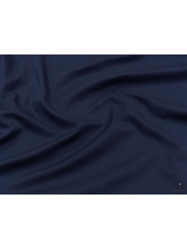 Cotton Piqué Yarn Dyed Fabric Marine Blue Made in Italy