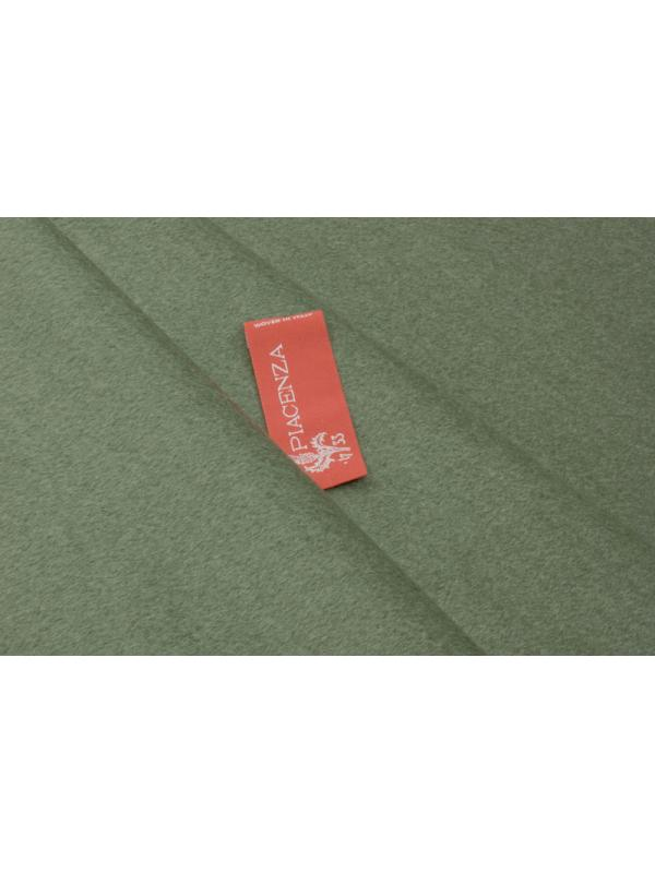 Mtr. 1.70 Velour Fabric Wool and Cashmere Piacenza 1733 Sage Green