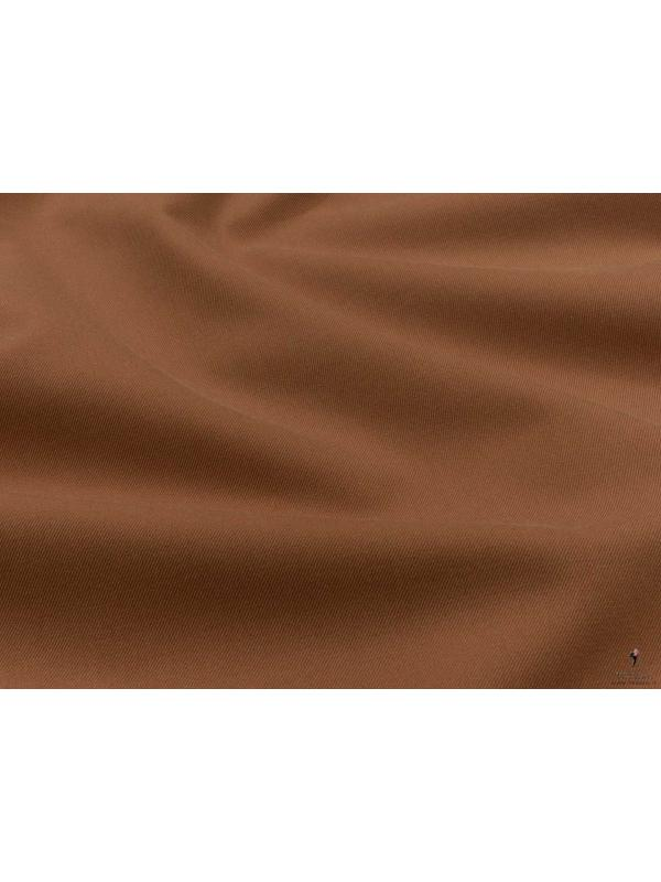 Cotton Twill Yarn Dyed Fabric Argan Oil Brown Made in Italy