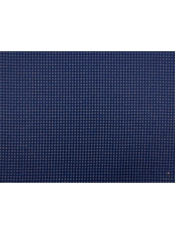 Mt. 1,60 Tessuto Jacquard in Seta Pura Diamanti Blu Made in Como